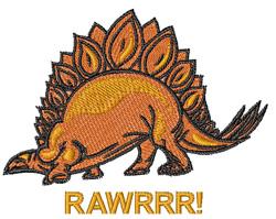 Rawrrr Dinosaur embroidery design