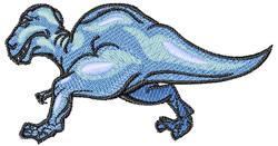 Blue Dinosaur embroidery design