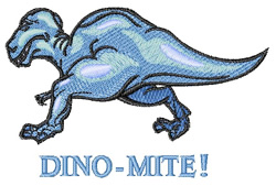 Dino Mite embroidery design