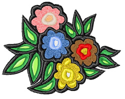 Easter Flowers embroidery design