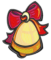 Christmas Ribbon Bell embroidery design