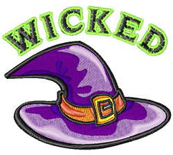 Witch Hat embroidery design