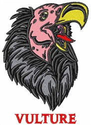 Vulture Head embroidery design