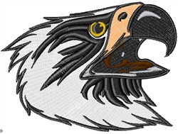 Hungry Eagle embroidery design
