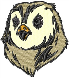 Owl Head embroidery design