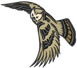 Winged Owl embroidery design