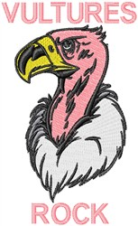 Vultures Rock embroidery design