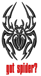Resting Spider embroidery design