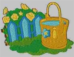 Gardening Scene embroidery design