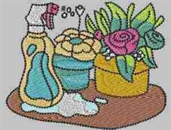 Spraying Flowers embroidery design