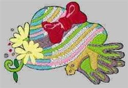 Gloves & Hat embroidery design