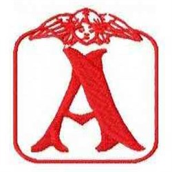 Redwork Angel Letter A embroidery design