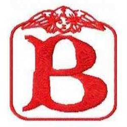 Redwork Angel Letter B embroidery design