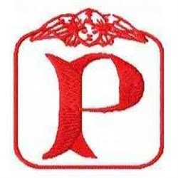 Redwork Angel Letter P embroidery design
