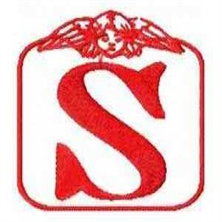 Redwork Angel Letter S embroidery design
