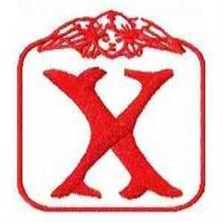 Redwork Angel Letter X embroidery design