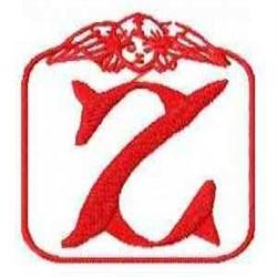 Redwork Angel Letter Z embroidery design