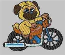 Biker Dog embroidery design