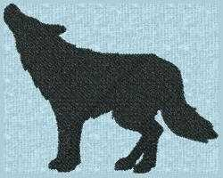Wolf Silhouette embroidery design