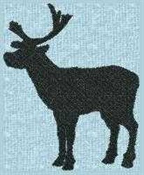 Moose Silhouette embroidery design