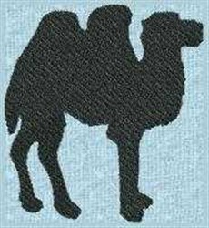 Camel Silhouette embroidery design