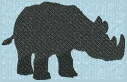 Rhinoceros Silhouette embroidery design
