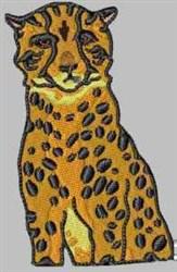 Cheetah embroidery design