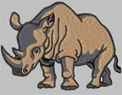 Rhinoceros embroidery design