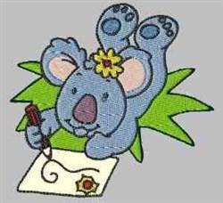 Koala Drawing embroidery design
