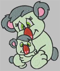 Koala With Baby embroidery design