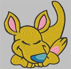 Sleeping Kangaroo embroidery design