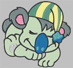 Sleeping Koala embroidery design