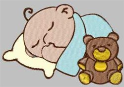 Sleeping Baby embroidery design