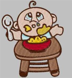 Eating Baby embroidery design