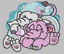Sleeping Elephants embroidery design