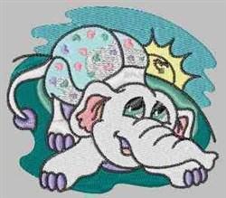 Cute Elephant embroidery design