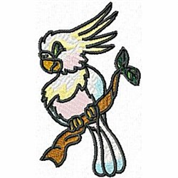 Cockatoo on Branch embroidery design