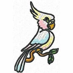 Cockatoo on Limb embroidery design