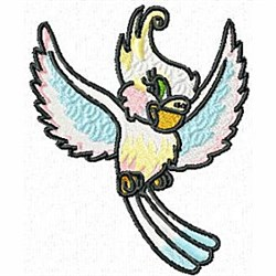 Flying Cockatoo embroidery design