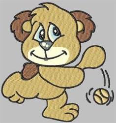 Tennis Bear embroidery design