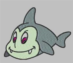Smiling Shark embroidery design
