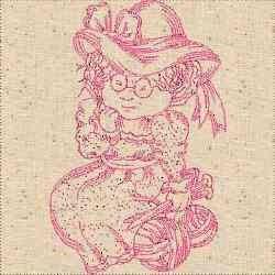 RW Knitting Woman embroidery design