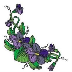 Violets embroidery design