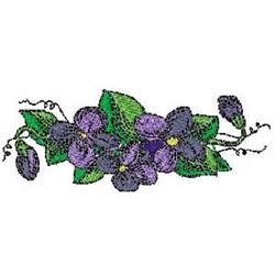 Violet Blossom embroidery design