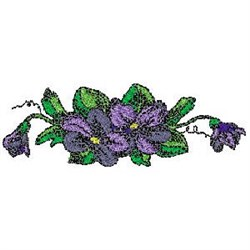 Pansy Violets embroidery design