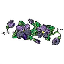 Violet Plant embroidery design