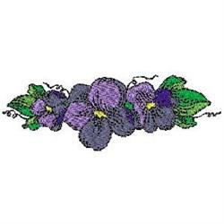 Purple Violets embroidery design