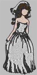 Bride Newlywed embroidery design