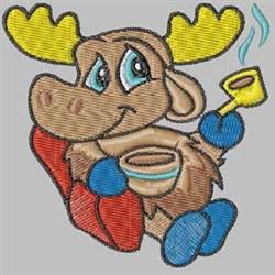 Winter Moose embroidery design
