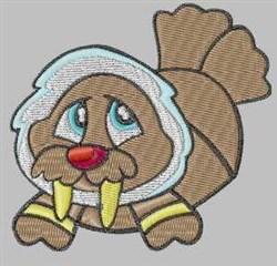 Winter Walrus embroidery design